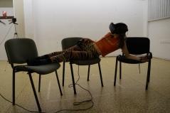 Lindsey Drury in rehearsal for Atelierhaus Droste